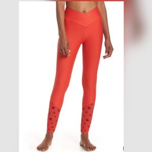 Beach Riot • Beach Leggings in Red Heart